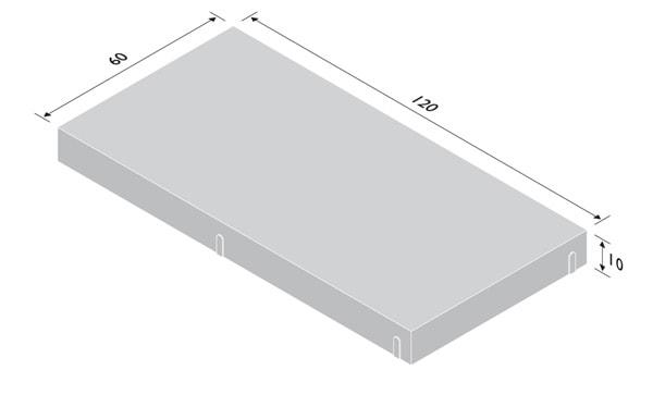 Betonplatte 10cm stark - Rastermaße 60/100cm