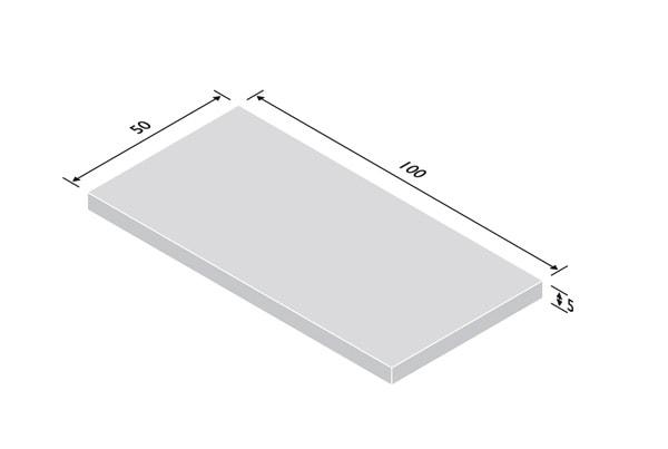 Betonplatte 5cm stark - Rastermaße 50/100cm
