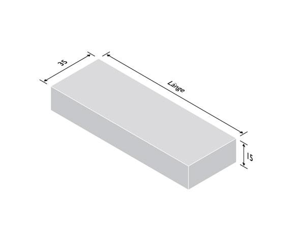 Blockstufe in den Varianten SELINGexterior und SELINGpurista - Stärke 15cm